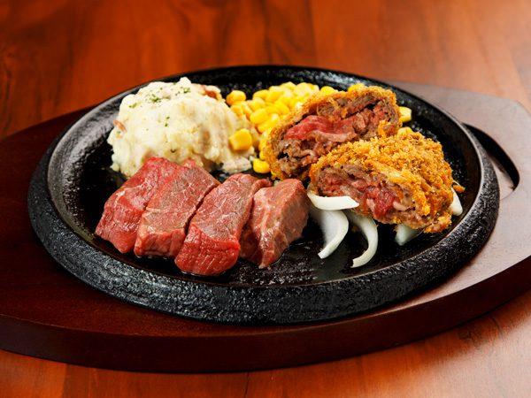 カットステーキ&手付けパン粉の牛肉ミルフィーユカツ<span>Pre-Cut Steak & Mille-feuille Cutlet</span>