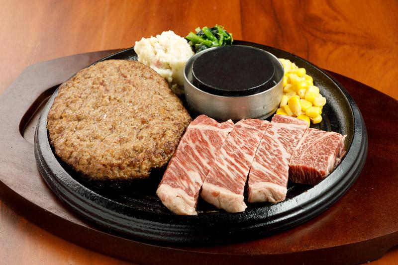 和牛あか牛100% プレミアムハンバーグ&あか牛ステーキ<span>100% All-Japanese Aka-Ushi (Japanese Brown Cattle) Premium Hamburger& Aka-Ushi Steak</span>